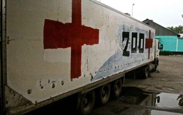"""ОБСЄ знову помітила фургон з написом """"Вантаж-200"""", який їхав до Росії"""