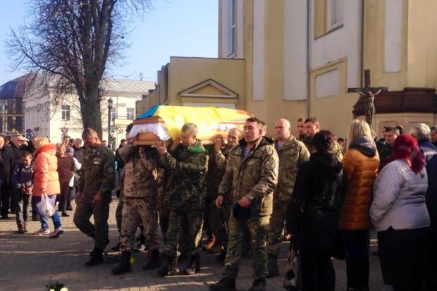 У Коломиї поховали Євгена Грода, який загинув у Слов'янську (фото+ відео)