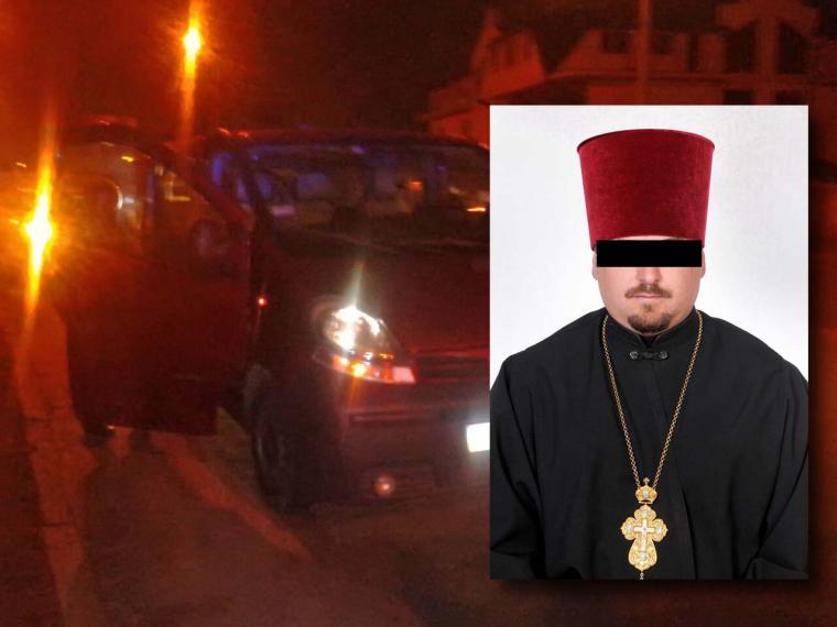 П'яний священик із подругами «бився» із вуличним холодильником і лякав дорожніх активістів