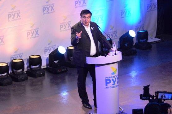 Голова Одеської ОДА Міхеїл Саакашвілі в Івано-Франківську розповів про свої амбіції (фото)