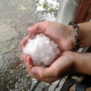 Сніг серед літа – на Калущині вирувала негода ФОТО
