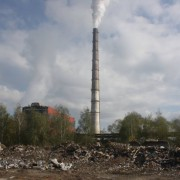 Біля Калуської ТЕЦ утворилось стихійне сміттєзвалище на два гектари