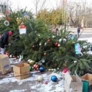 На Київщині впала головна ялинка