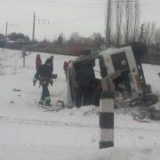 На Вінничині зіткнувся потяг та автобус: опублікували фото