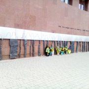 У Франківську спаплюжили Стіну пам'яті Небесної сотні (фото)