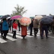 На Прикарпатті мешканці одного із сіл перекрили дорогу, вимагаючи відновити газопостачання (відео)