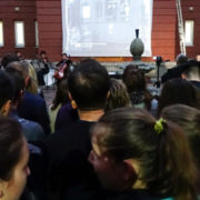 """У дворику медуніверситету презентували кінохроніку Франківська """"Моє місто. 100 років на екрані"""" (ВІДЕО)"""