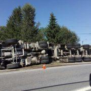 На Івано-Франківщині перекинулася вантажівка, яка перевозила свиней. ФОТО