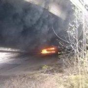 Пожежа під мостом на Пасічній сталася через вогнище безхатьків