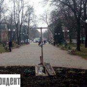 """Упс! В Івано-Франківську зламався """"хрест тверезості"""""""