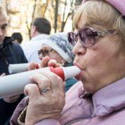 Франківці безкоштовно перевіряли стан своїх легенів. ВІДЕО