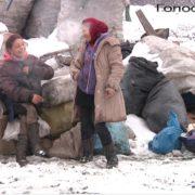 Важка праця на смітнику в Болехові, так зване «Циганське щастя» (ВІДЕО)