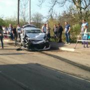 Відірвані колеса та травмовані люди: У Калуші на перехресті зіткнулись три іномарки (фото, відео)