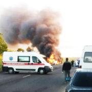 """""""В результаті зіткнення стався вибух"""": ДТП на Рівненщині закінчилася смертю"""