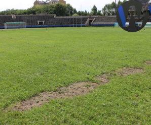 """Дикі вовчиці, або Винник приїхав і поїхав, а футбольне поле стадіону """"Рух"""" не витримало лихої долі. ФОТО"""