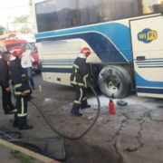 На Прикарпатті горів рейсовий автобус