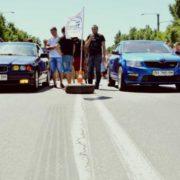 В прикарпатському райцентрі юні «мажори» влаштовують автоперегони посеред білого дня (відеофакт)