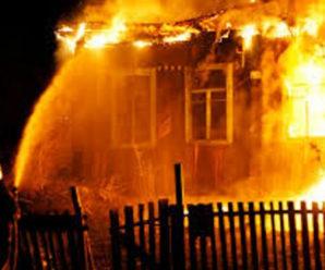 На Прикарпатті від удару блискавки вщент згорів житловий будинок (відео)