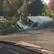 На Прикарпатті водій помер під час руху машини (ВІДЕО)