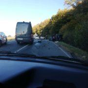 ДТП на Прикарпатті: водій виїхав на зустрічну смугу (фоторепортаж)
