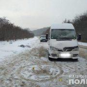 На Тернопільщині водій мікроавтобуса збив на смерть пенсіонера