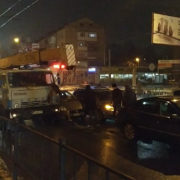 Через ДТП на мості на кількох вулицях Франківська утворились затори (фото)