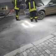 У центрі Франківська загорілася машина (ФОТО)