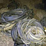 У Калуші затримали двох чоловіків, що вкрали телефонні кабелі