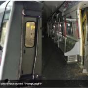 У метро Гонконгу зіткнулися два потяги (фото)