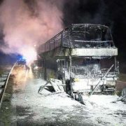 У Польщі повністю згорів український автобус
