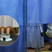 Чоловік зі спущеними штанами на виборчій дільниці підірвав мережу: стало відомо, хто він