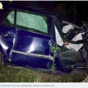 У Долині автомобіль в'їхав у дерево: водій загинув на місці, пасажир — у лікарні. ФОТО