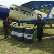 На Прикарпатті з літаків розкидають вакцину проти сказу (ВІДЕО)