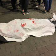 """В центрі Франківська поклали """"труп"""", щоби поговорити про смерть"""