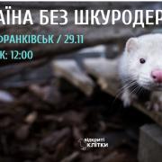 У Франківську пройде акція, щоб заборонити виробництво хутра в Україні