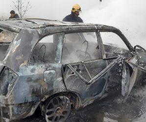 У власній автівці ледь не згорів ексдиректор Солотвинського лісгоспу