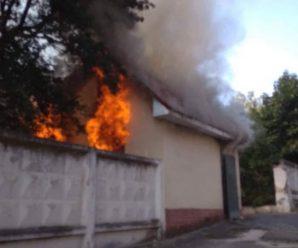 На Прикарпатті горіли автомобіль та господарська будівля