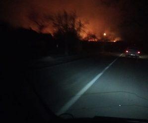 """""""Вогонь іде до будинків"""": три години гасили масштабну пожежу сухої трави біля Долини"""