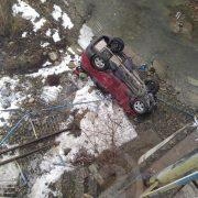 На Франківщині автівка злетіла з мосту (ФОТО)(ОНОВЛЕНО)
