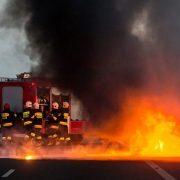 У Польщі згорів український автобус (ВІДЕО)
