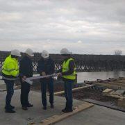 На Калущині продовжується будівництво мосту через річку Дністер. ФОТО