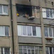 У Франківську в багатоповерхівці сталась пожежа (ФОТО+ВІДЕО)