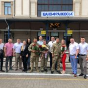 Прикарпатські офіцери та офіцерка податкової міліції повернулись із зони проведення Операції об'єднаних сил