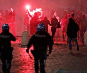 В Італії тривають масові протести проти нових карантинних обмежень, поліція застосувала сльозогінний газ