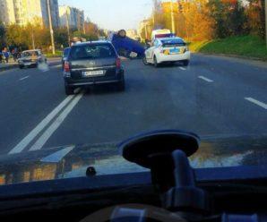 ДТП в Івано-Франківську: Перекинувся автомобіль (фото, відео)
