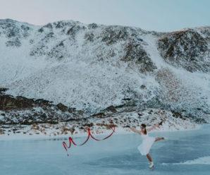 Мешканка Прикарпаття на ковзанах станцювала на найвисокогірнішому озері України (ФОТО)