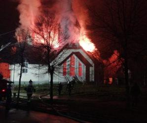 На Франківщині горіла церква. Відео