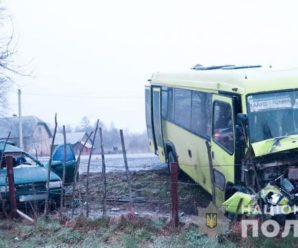 На Прикарпатті легковик влетів у маршрутний автобус, є поранені (фото)