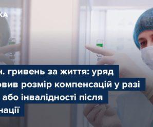 1,7 млн. гривень за життя: уряд встановив розмір компенсацій у разі смерті або інвалідності після вакцинації