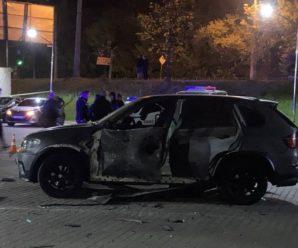 В Івано-Франківську вночі з гранатомету підірвали автомобіль BMW Х5 (ФОТО, ВІДЕО)